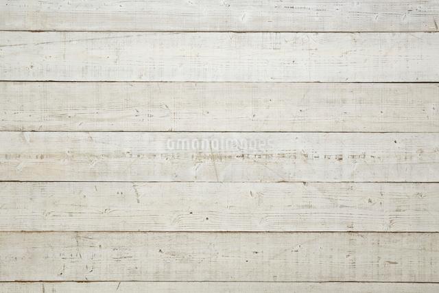 白く塗られた木の床の写真素材 [FYI01639025]