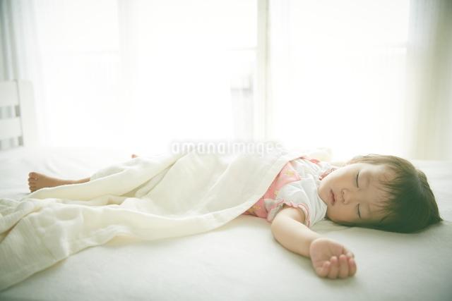 お昼寝中の赤ちゃんの写真素材 [FYI01639236]
