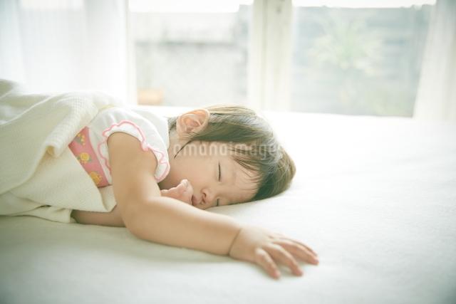 お昼寝中の赤ちゃんの写真素材 [FYI01639351]