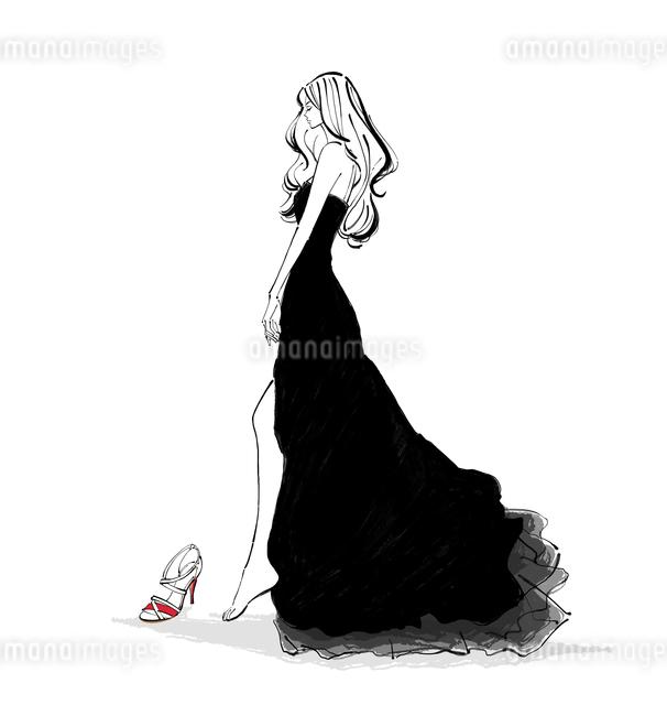 靴を履くドレスの女性のイラスト素材 [FYI01639757]