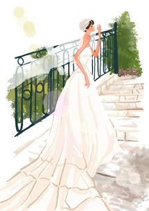 ウエディングドレスを着た女の子のイラスト素材 [FYI01639891]