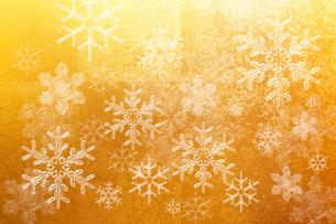 金屏風と雪の結晶のイラスト素材 [FYI01640769]