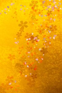 金屏風と桜のイラスト素材 [FYI01640816]