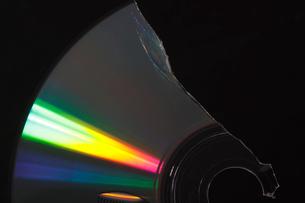 割れたディスクの写真素材 [FYI01640872]