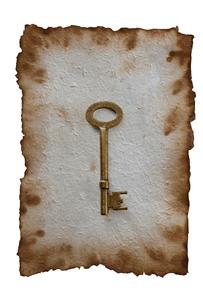 古い紙と鍵の写真素材 [FYI01640990]