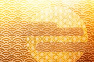 和柄の金屏風の写真素材 [FYI01641781]