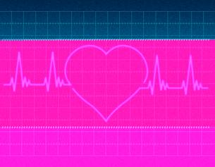 心電図の波形のイラスト素材 [FYI01641785]