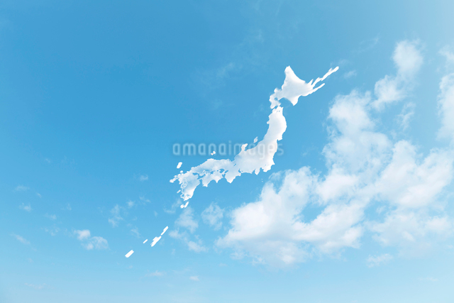 雲の日本地図の写真素材 [FYI01641894]