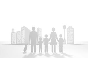 ペーパークラフト風の家族の写真素材 [FYI01642122]