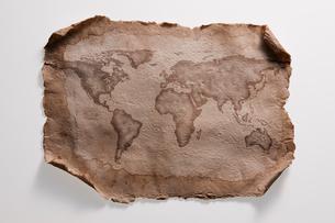 古い紙の世界地図の写真素材 [FYI01642169]