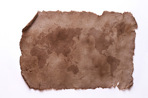 古い紙の世界地図の写真素材 [FYI01642179]