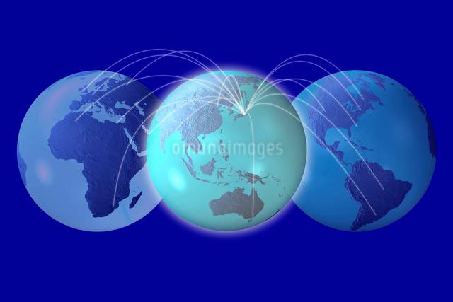 地球儀とネットワークの写真素材 [FYI01642473]