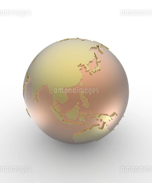 金属の地球儀の写真素材 [FYI01642507]