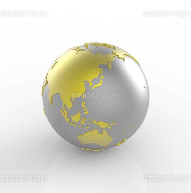 金属の地球儀の写真素材 [FYI01642572]