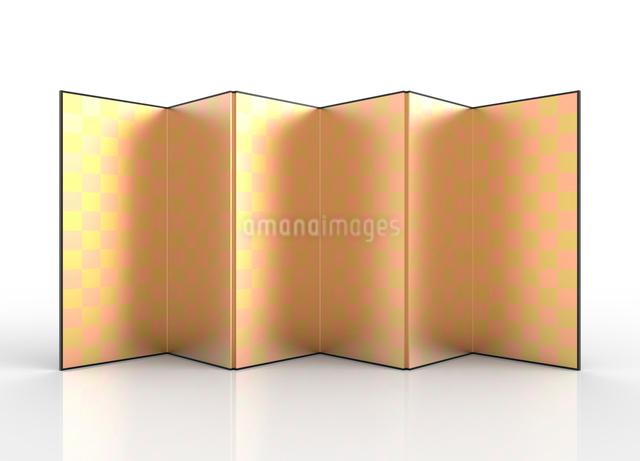 金屏風のイラスト素材 [FYI01642620]