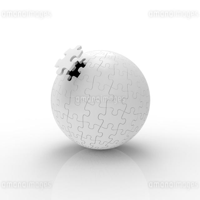 球体のジグソーパズルのイラスト素材 [FYI01642630]