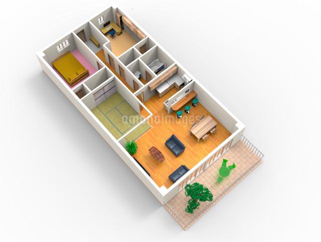 マンションの立体見取り図のイラスト素材 [FYI01642845]