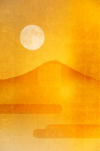 金屏風と富士山のイラスト素材 [FYI01642894]