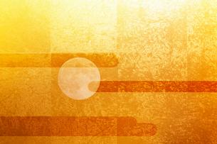 金屏風と月のイラスト素材 [FYI01642911]