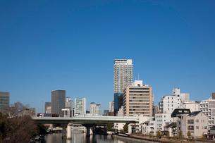 天神橋より梅田方向を望むの写真素材 [FYI01643064]