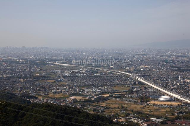 交野山山頂からの風景の写真素材 [FYI01643072]
