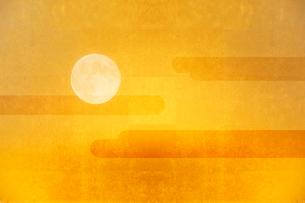 金屏風と月のイラスト素材 [FYI01643152]