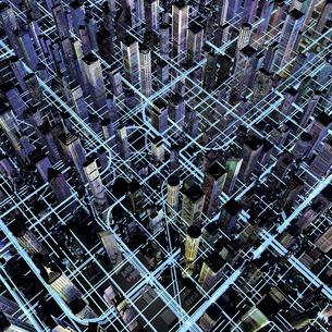 未来都市のネットワークのイラスト素材 [FYI01643529]