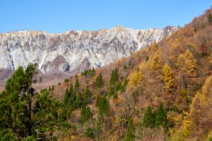鍵掛峠より望む大山の写真素材 [FYI01643530]