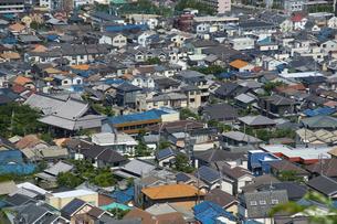 生駒山山頂からの大阪の遠景の写真素材 [FYI01643640]