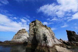 浄土ヶ浜より望む剣の山の写真素材 [FYI01643740]