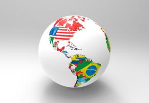 国旗の地球儀のイラスト素材 [FYI01643747]