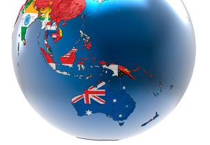国旗の地球儀のイラスト素材 [FYI01643804]