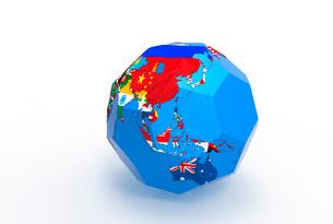 国旗の地球儀のイラスト素材 [FYI01643847]