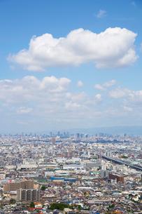 生駒山山頂からの大阪の遠景の写真素材 [FYI01643927]