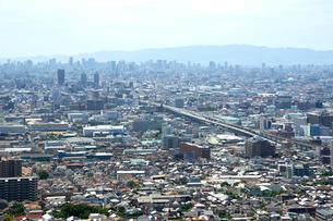 生駒山山頂からの大阪の遠景の写真素材 [FYI01644010]