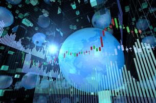 株価グラフのイラスト素材 [FYI01644013]