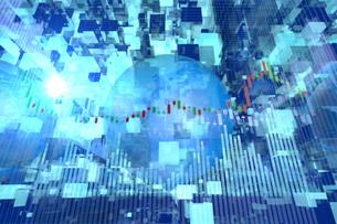 株価グラフのイラスト素材 [FYI01644018]