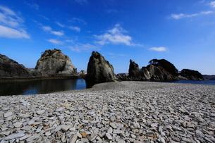 浄土ヶ浜より望む剣の山の写真素材 [FYI01644147]