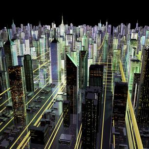 未来都市のネットワークのイラスト素材 [FYI01644272]