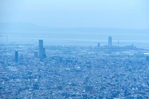 生駒山山頂からの大阪の遠景の写真素材 [FYI01644344]