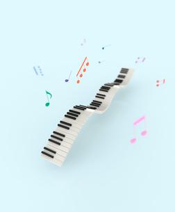 鍵盤と楽譜のイラスト素材 [FYI01644360]
