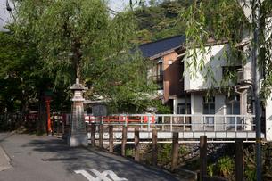 城崎温泉街の街並の写真素材 [FYI01644391]