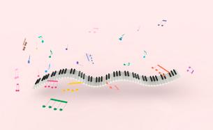 鍵盤と楽譜のイラスト素材 [FYI01644621]