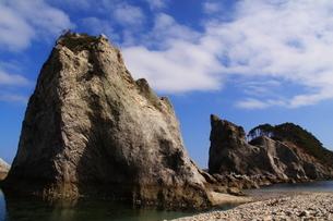 浄土ヶ浜より望む剣の山の写真素材 [FYI01644663]