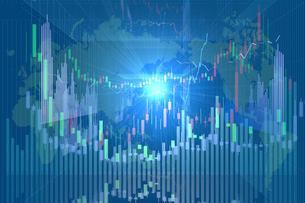 株価グラフのイラスト素材 [FYI01644684]