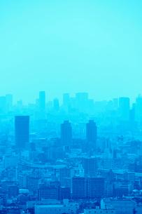 生駒山山頂からの大阪の遠景の写真素材 [FYI01644742]