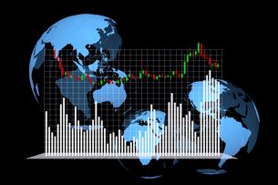 株価グラフのイラスト素材 [FYI01644768]