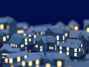 街並と窓の明かりのイラスト素材 [FYI01644881]