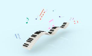 鍵盤と楽譜のイラスト素材 [FYI01644927]