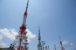 生駒山上のテレビ塔の写真素材 [FYI01645032]